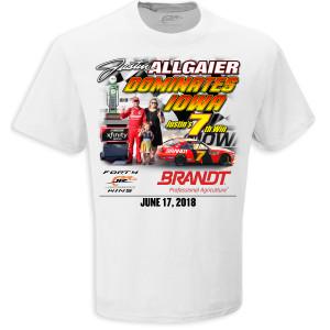 Justin Allgaier Iowa Xfinity RACE WIN T-shirt