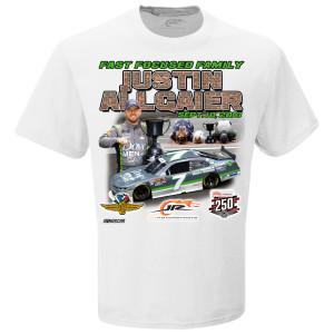 Justin Allgaier Xfinity Lilly Diabetes 250 Race Win T-shirt