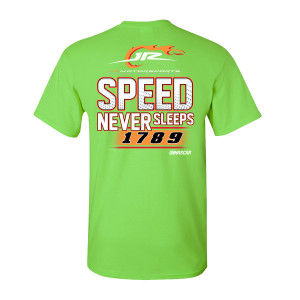 2019 NASCAR Jr. Motorsports Speed Never Sleeps Green T-shirt