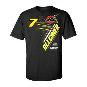 2019 #7 NASCAR Justin Allgaier Brandt Black T-shirt
