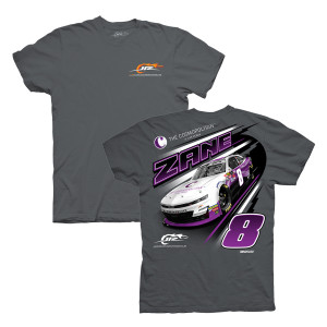 2019 NASCAR #8 Zane Smith The Cosmopolitan of Las Vegas Grey T-shirt