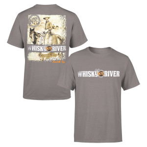 "Whiskey River Cowboy ""Saddle Up"" Charcoal T-shirt"