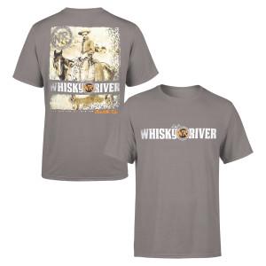 "Whiskey River Cowboy ""Saddle Up"" Charcoal T-shirt"