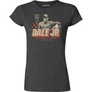 Dale Earnhardt Jr NASCAR Hall of Fame 2021 Ladies T-shirt - Heather Navy
