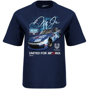 Dale Jr 2021 Youth United For America  Navy Tee