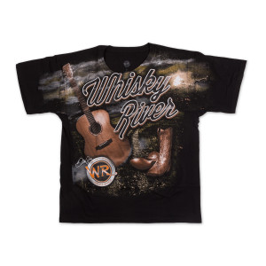 Whisky River Black Total Camp T-shirt