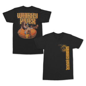 Whisky River Guitar Pin-up T-shirt