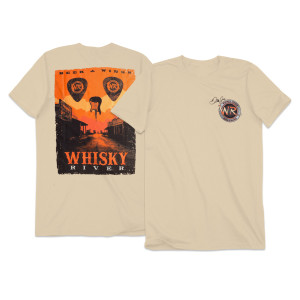 Whisky River Adult Skull Poster T-shirt