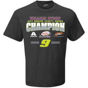 2017 William Byron XFINITY Adult Championship Victory  1-spot Graphic Tee
