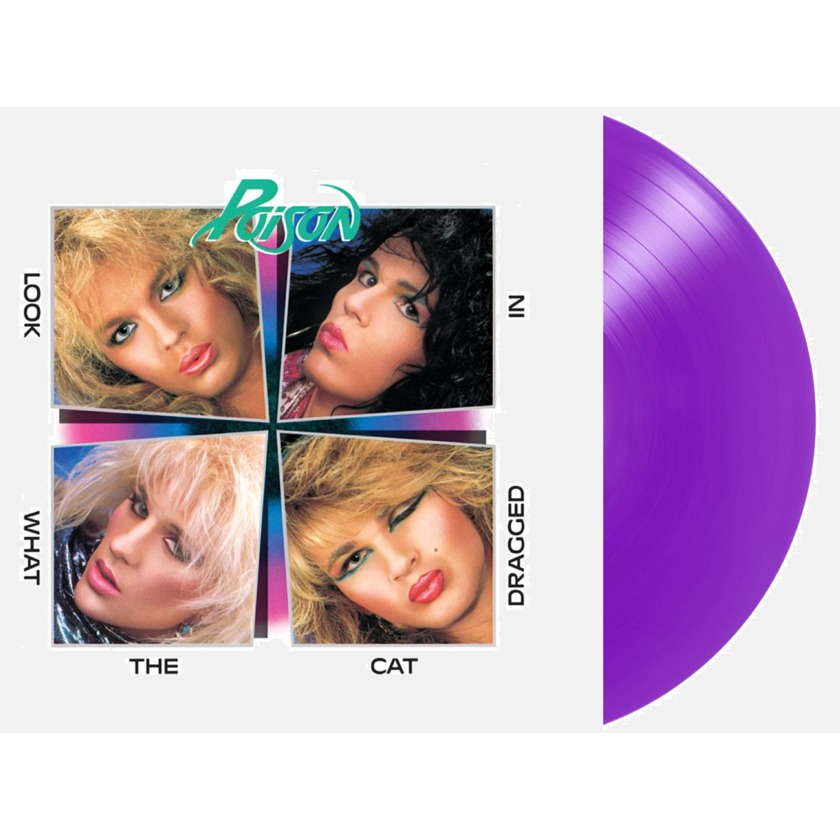 Poison - Look What The Cat Dragged In (180 Gram Audiophile Translucent Purple Vinyl/Limited Edition/Gatefold Cover)