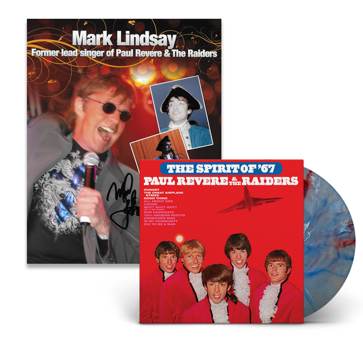 Paul Revere & The Raiders featuring Mark Lindsay - The Spirit of '67 (180 Gram Red White & Blue Swirl Audiophile Vinyl/Ltd. Edition/Gatefold Cover)