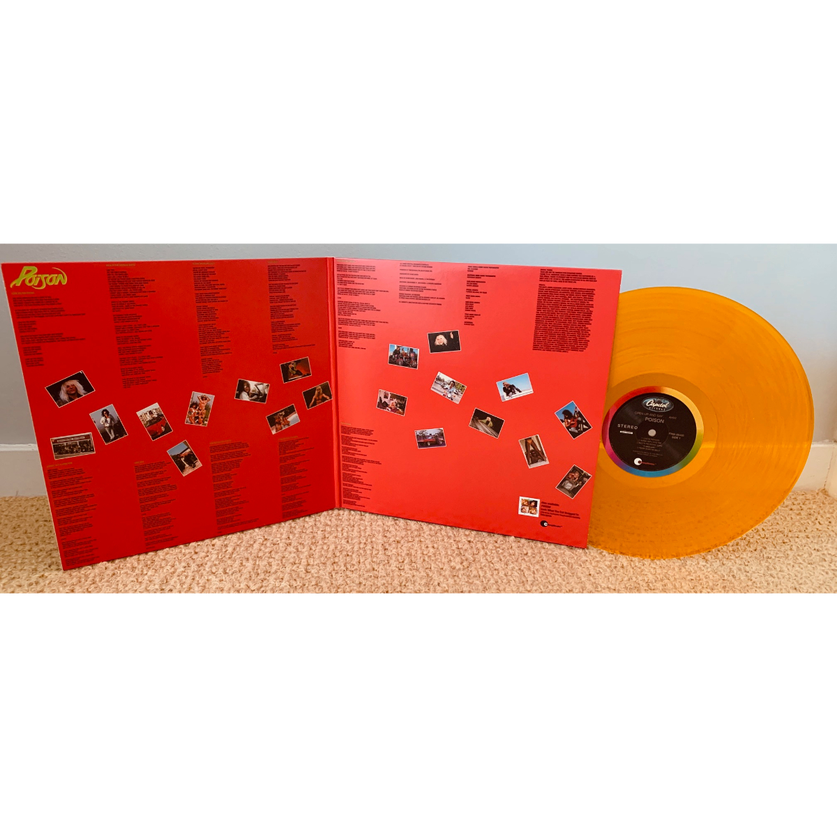 Poison - Open Up and Say Ahh (180 Gram Translucent Gold Audiophile Vinyl/Limited Edition/Gatefold Cover)