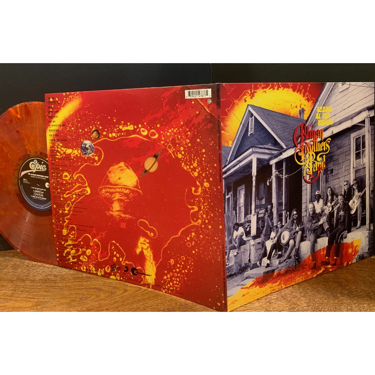 The Allman Brothers Band Shades Of Two Worlds (180 Gram Red & Orange Swirl Audiophile Vinyl/Limited Edition/Gatefold Cover)