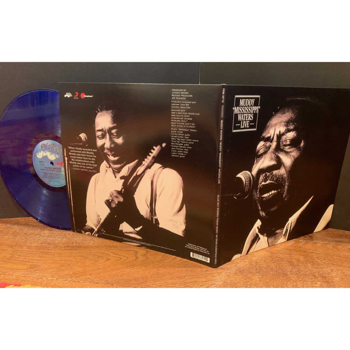 Muddy Waters Muddy Mississippi Waters Live (180 Gram Audiophile Translucent Blue & Black Swirl Vinyl/Limited Edition/Gatefold Cover)
