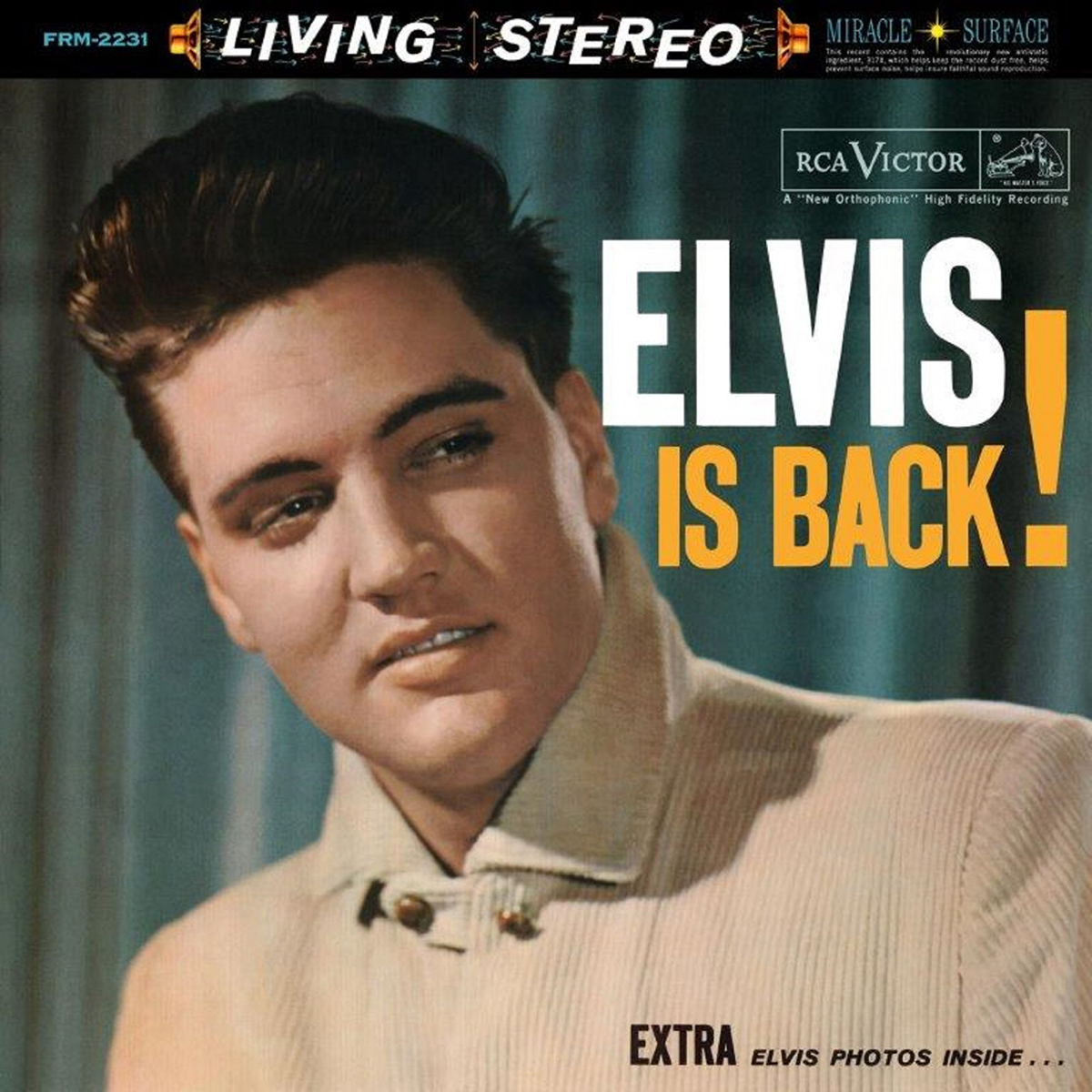 ELVIS PRESLEY - ELVIS IS BACK 180 GRAM AUDIOPHILE TRANSLUCENT BLUE LP