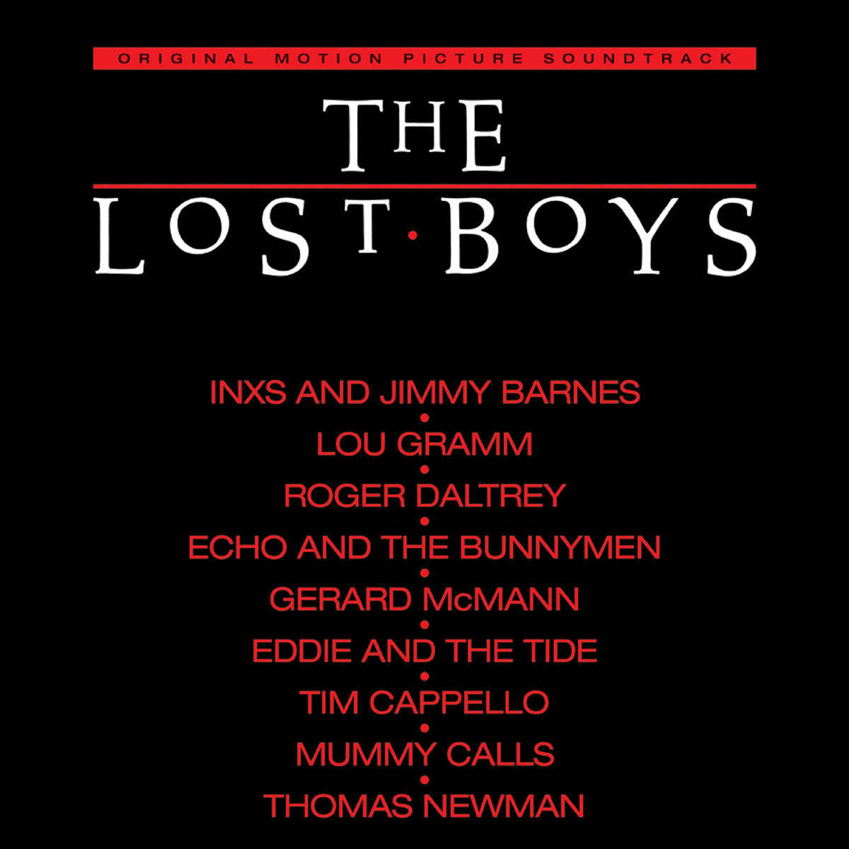 THE LOST BOYS - THE LOST BOYS-ORIGINAL SOUNDTRACK RECORDING 180 GRAM RED AUDIOPHILE LP