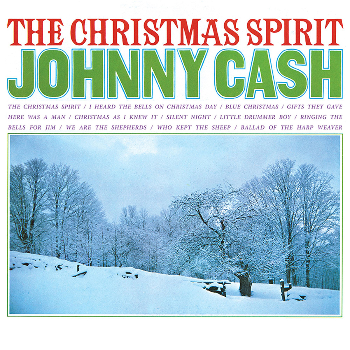 JOHNNY CASH - THE CHRISTMAS SPIRIT 180 GRAM TRANSLUCENT BLUE LP