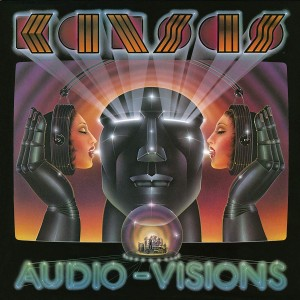 Kansas - Audio Visions Translucent Blue & Black Swirl LP