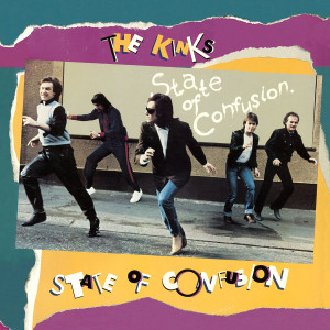 THE KINKS - STATE OF CONFUSION 180 GRAM AUDIOPHILE CLEAR WITH BLUE & GOLD SWIRL LP