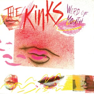 The Kinks - Word of Mouth Translucent Pink & White Swirl 35th Anniversary LP