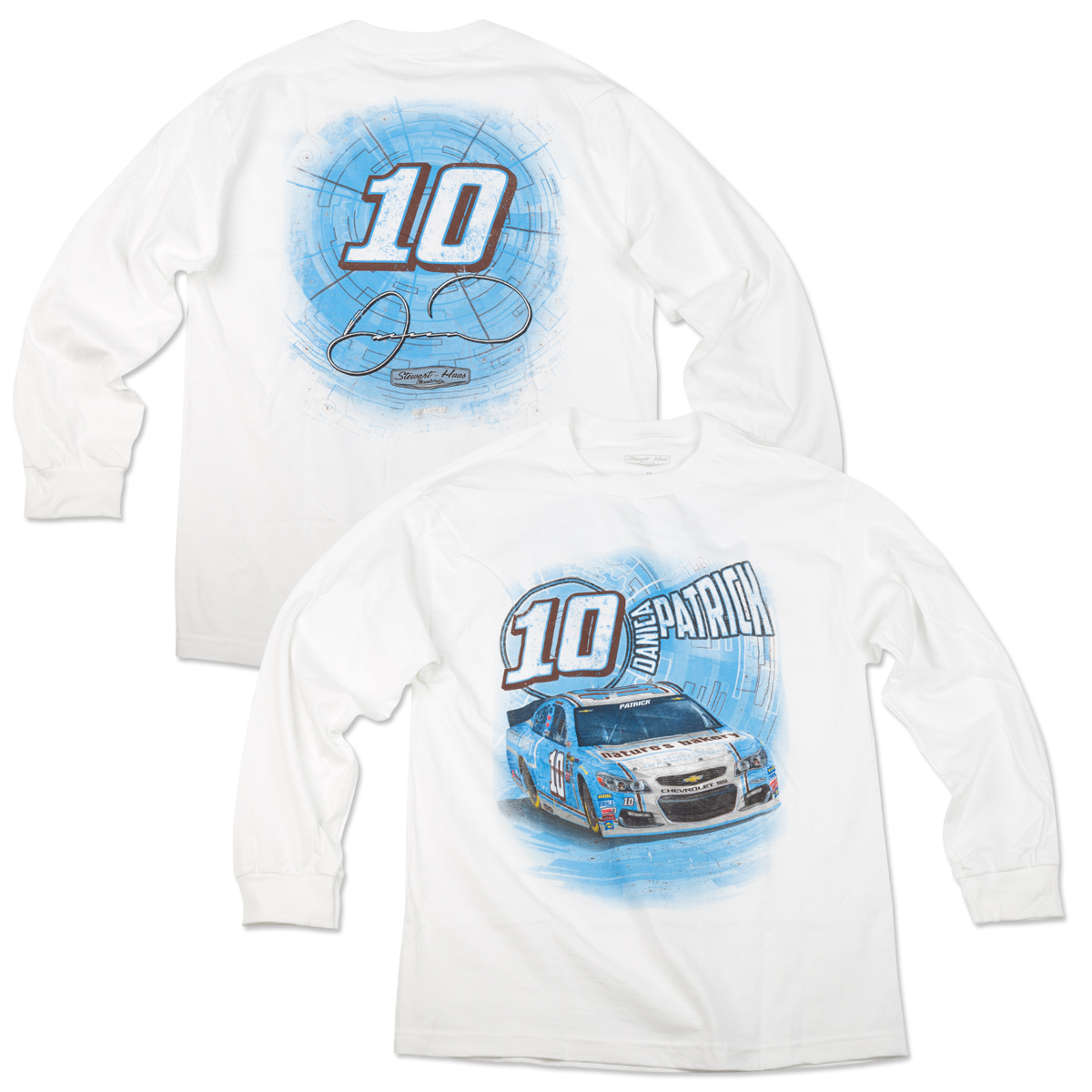 Danica Patrick #10 Adult Speedbolt Longsleeve T-Shirt