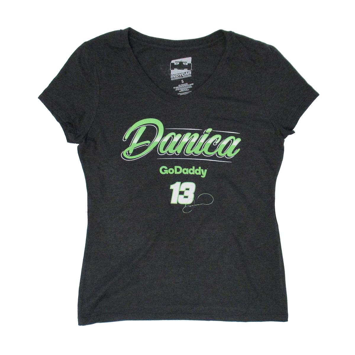 Danica Patrick 2018 INDY #13 GoDaddy Ladies T-shirt
