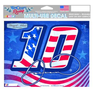 "Danica Patrick #10 Patriotic Multi-Use Decal - 5"" x 6"""