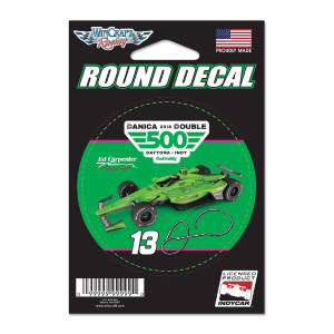 Danica Patrick #13 2018 INDY 500 Round Decal - 3""
