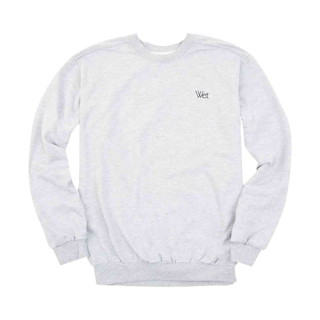 Wet - Grey Embroidered Crewneck Sweatshirt