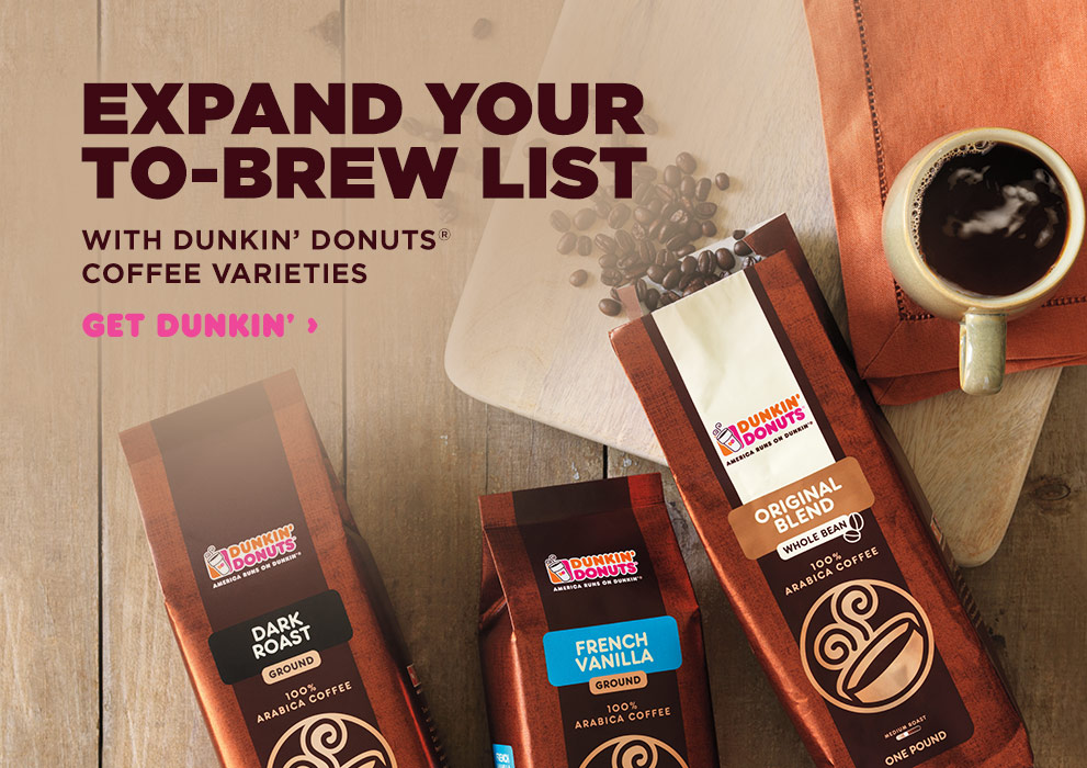 Dunkin' Donuts Coffee Varieties