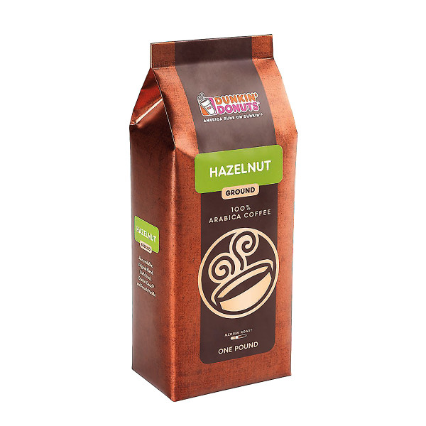 Hazelnut Ground Coffee | Shop the Dunkin Donuts Official Store on coffee bean, green tea, rock house on the grounds, green tea grounds, soft drink, instant coffee, black grounds, french press for grounds, espresso grounds,