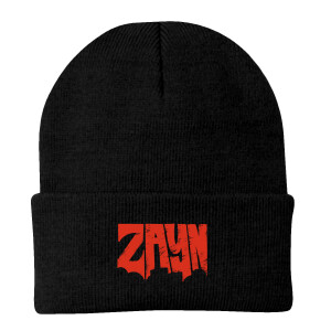ZAYN Logo Embroidered Black Beanie