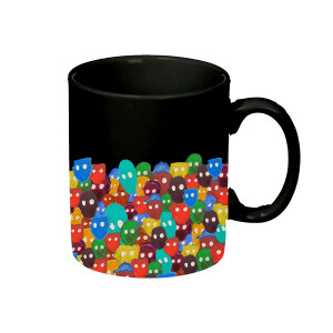 NIL Black Mug with Color Faces