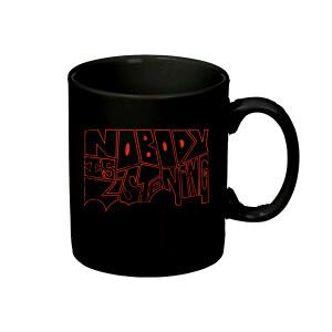 NIL Outline Black Mug