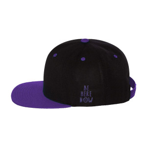 Blk/Purple Snapback Hat