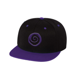 Blk/Purple Snapback Hat