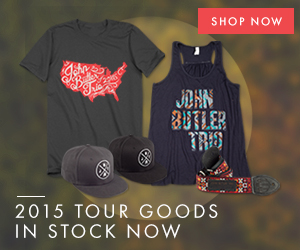 John Butler Trio 2015 Tour Merchandise