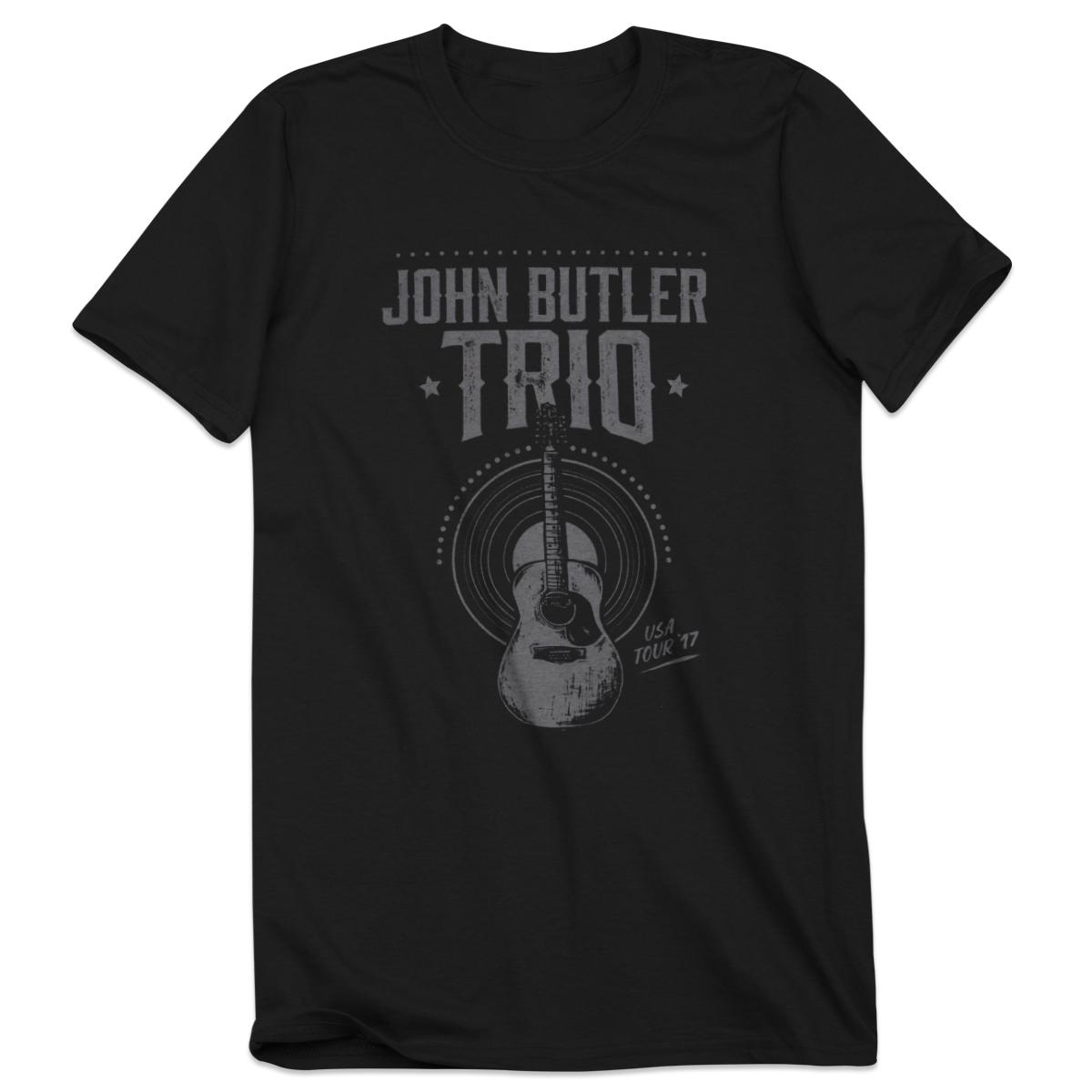 2017 Tour Tee Gray Guitar Design T-Shirt