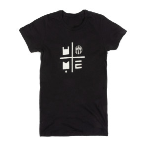 HOME Tour Dateback Black Women's Shirt