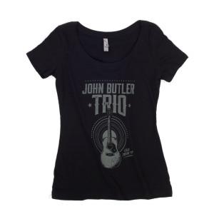 Women's 2017 Tour Tee Guitar Design T-Shirt