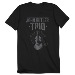 2017 Tour Tee Gray Guitar Design T-Shirt
