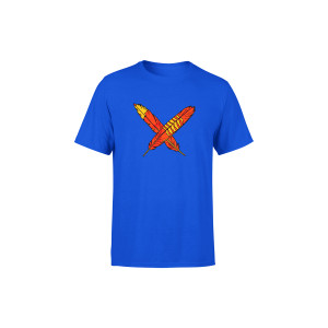 Royal Blue Feathers Kids Tee