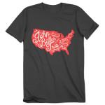 John Butler Trio 2015 Tour Map Men's T-shirt
