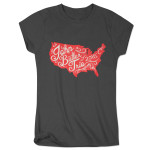 John Butler Trio 2015 Tour Map Women's T-Shirt