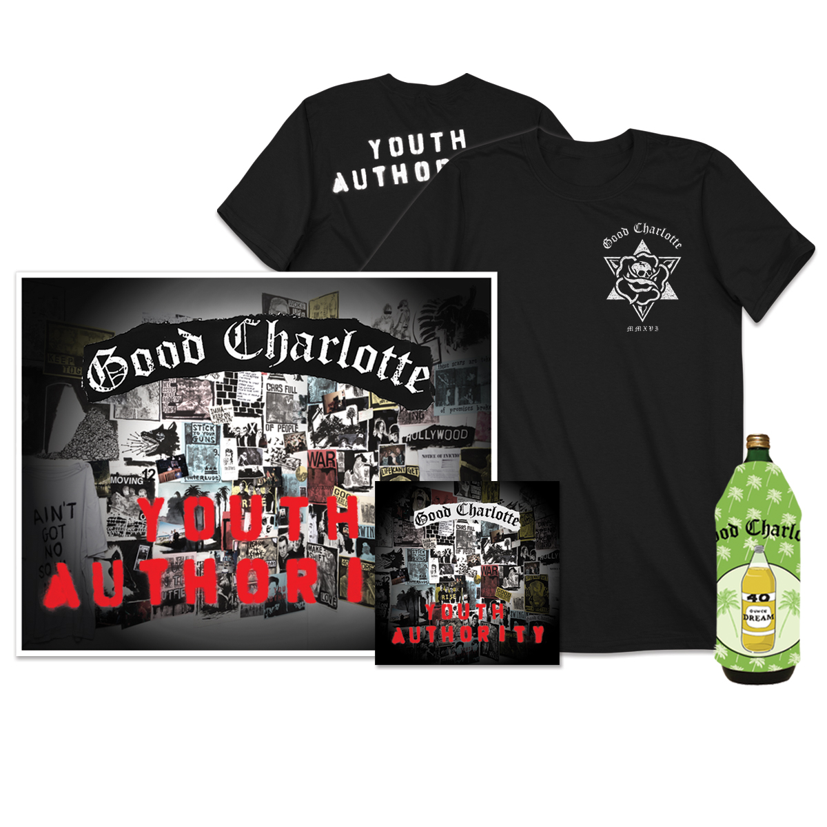 Youth authority cd signed litho t shirt koozie shop for Shirts and apparel koozie