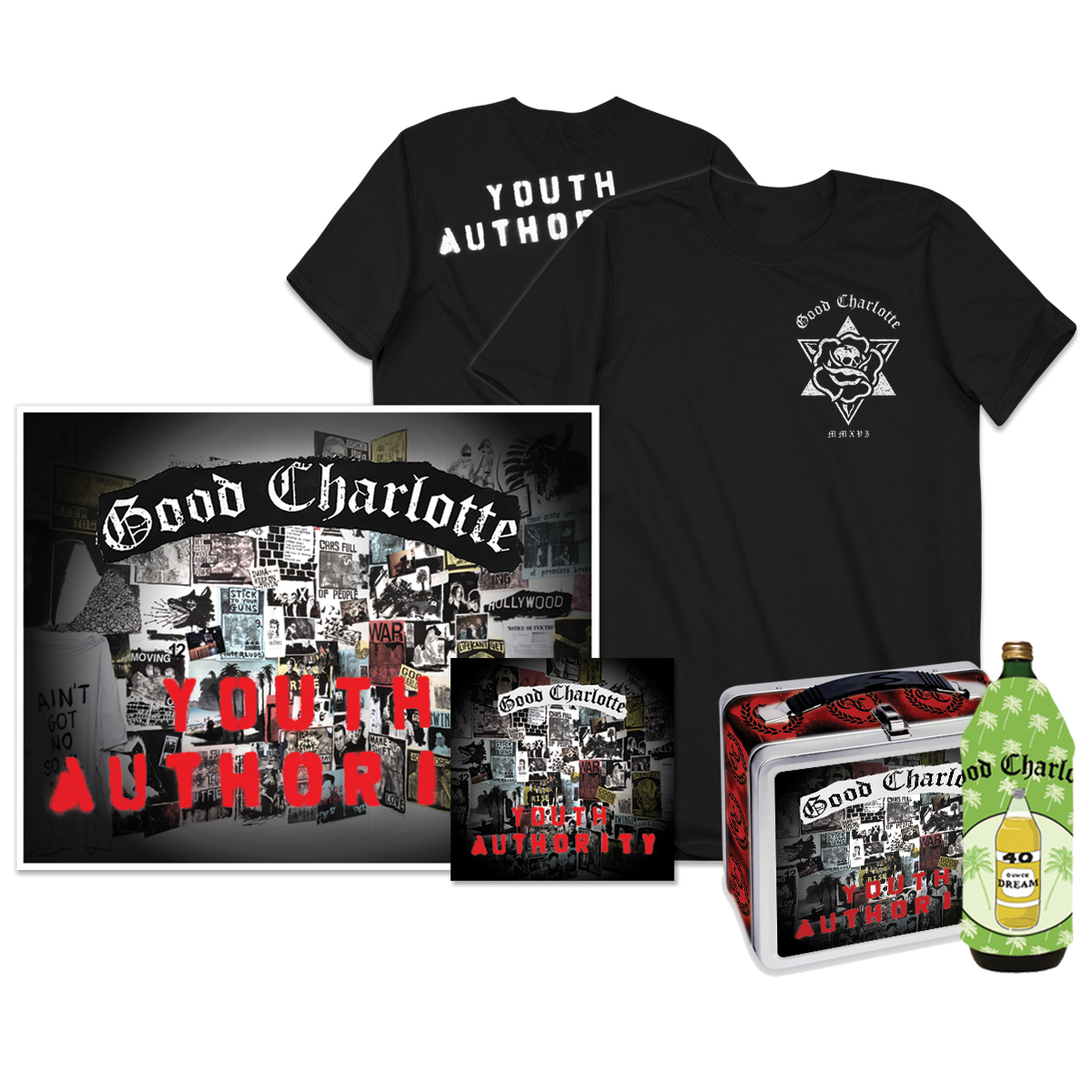 Youth Authority CD + Signed Litho + T-shirt + Koozie + Lunchbox