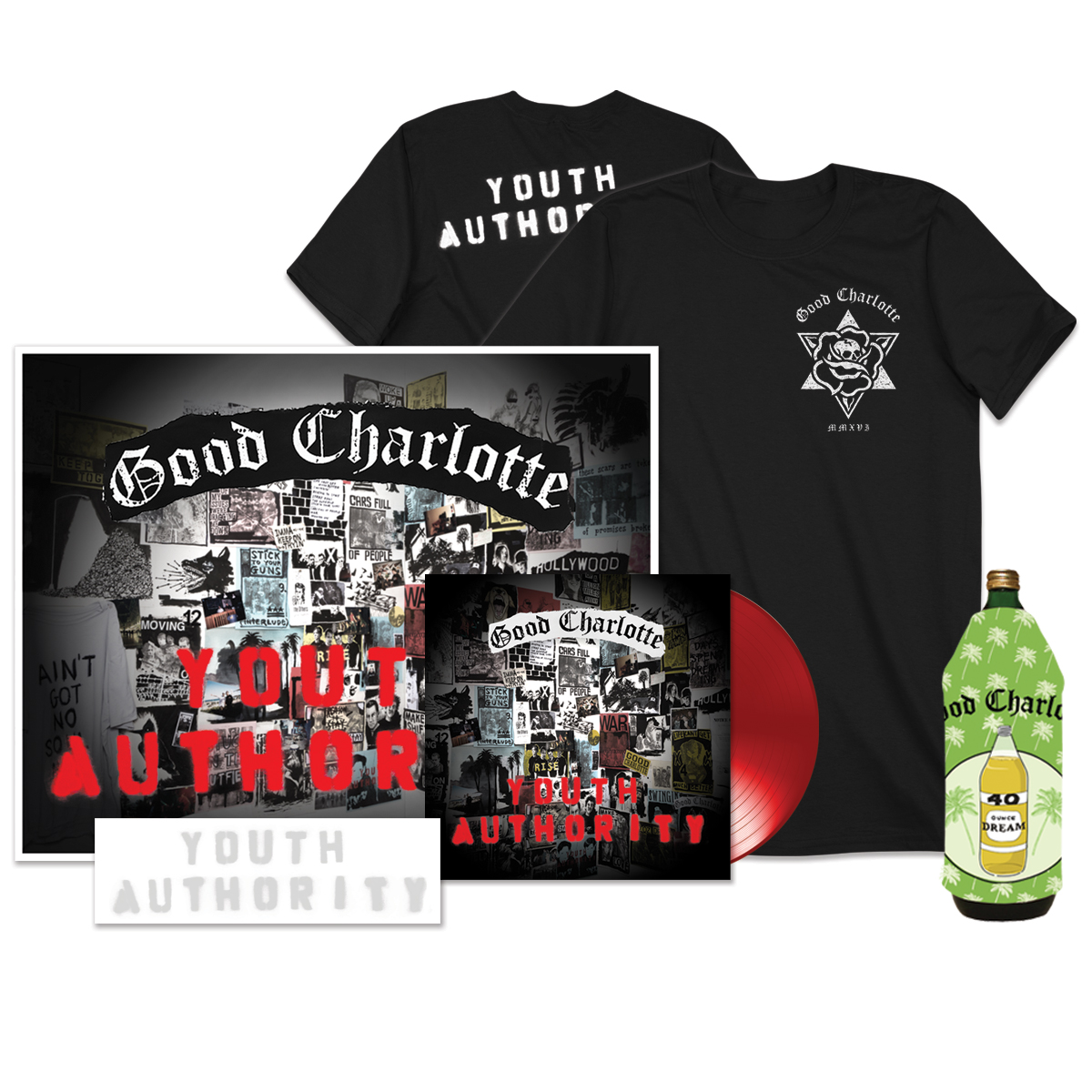 Youth Authority LP + Stencil + Youth Authority MP3 Album + Signed Litho + T-shirt + Koozie
