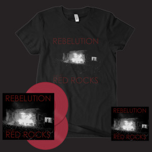 Rebelution Live At Red Rocks CD/DVD + Limited Edition Colored 2-LP Vinyl + T-shirt Bundle