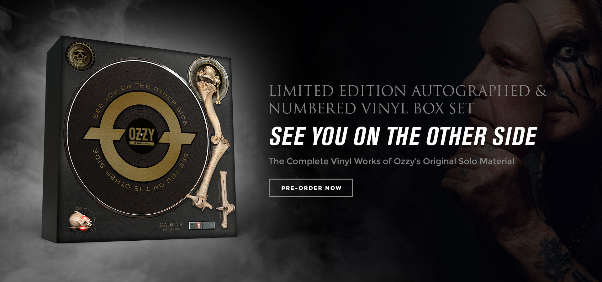 Shop the Ozzy Osbourne See You On The Other Side Limited Edition Autographed & Numbered Vinyl Box Set!