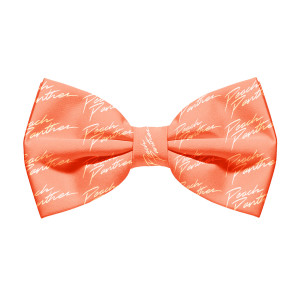 Peach Panther Bow Tie